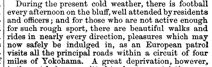 REMARKABLE CONTEMPORARY 1864 REFERENCE TO FOOTBALL/'RUGBY' IN JAPAN FOUND IN BRITISH MEDICAL JOURNAL