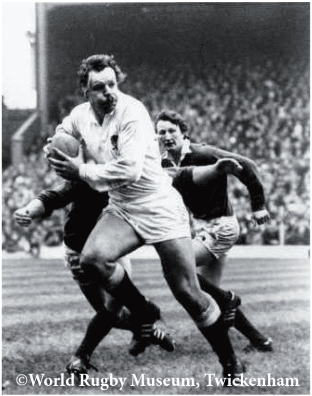 Billy Beaumont in action for England