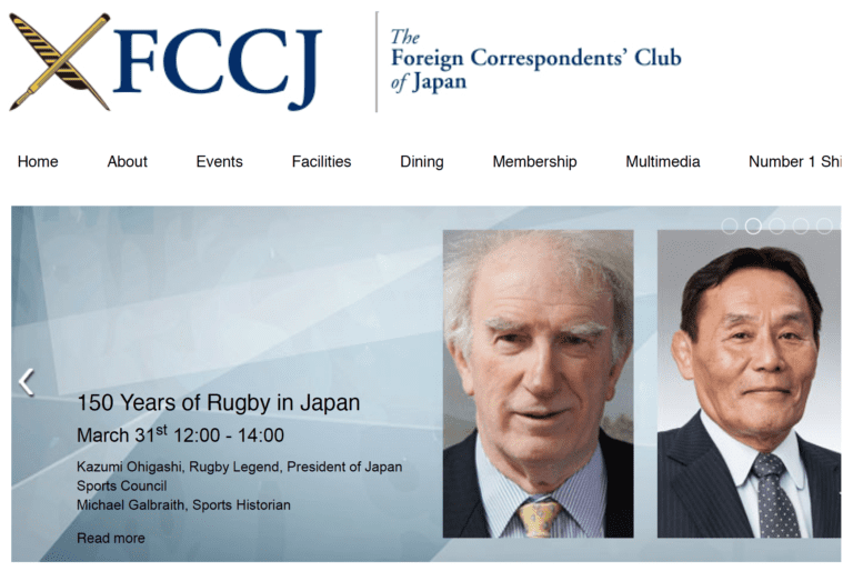 VIDEO OF FCCJ PRESENTATION ON HISTORY OF RUGBY IN JAPAN & RECENT PODCAST
